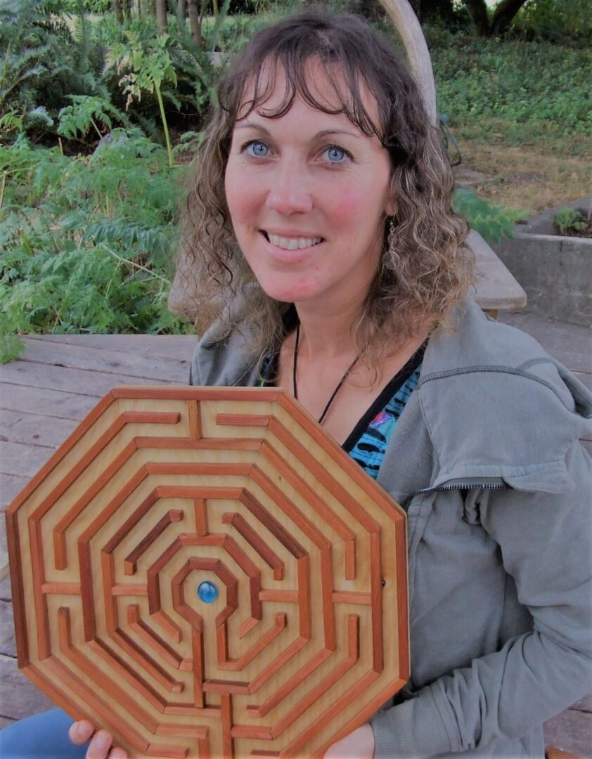 Holly and wooden labyrinth photo (2)